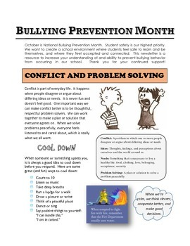 Parent Newsletter: Conflict and Problem Solving