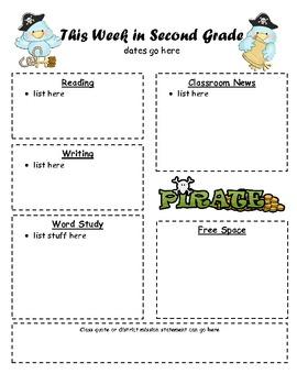 Parent Newsletter - Pirate Version