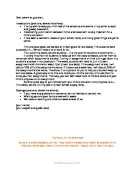 parent newsletter template by jessdiscover teachers pay teachers