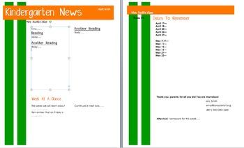 parent newsletter template teaching resources teachers pay teachers