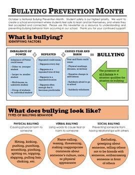 Parent Newsletter: Understanding Bullying Behavior