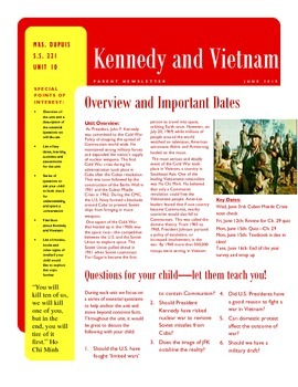 Parent Newsletter - Vietnam