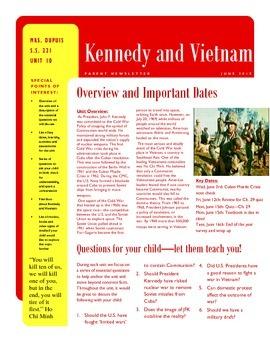 Parent Newsletter - Vietnam