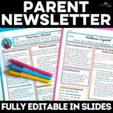 Back to School: Parent Newsletter for any World Language Class