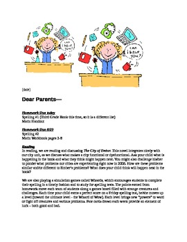 sample letter to parents from teacher about behavior parent newsletter sample amp template by rivian bass tpt 24643