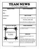 Parent Newsletter template-sports theme