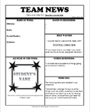 Parent Newsletter template-sports theme