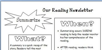 Comprehension - Parent Newsletter Summarize