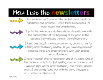 Parent Newsletters: Lessons 16-19 Grade 2