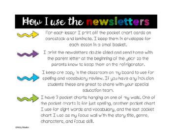 Parent Newsletters: Lessons 6-9 Grade 2
