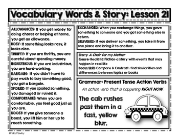 Parent Newsletters: Lessons 21-24 Grade 2