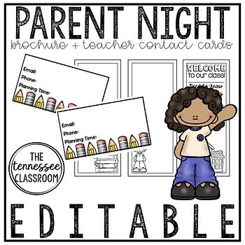 Parent Night Brochure + Contact Cards