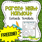 Parent Night/Back to School Night Handout FREEBIE