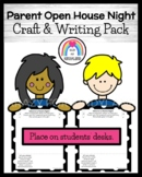 Parent Night Open House Craft and Writing (Back to School)