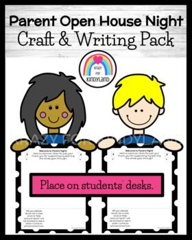 Parent Night Open House Craft and Writing for Kindergarten (Back to School)