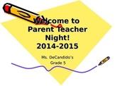 Parent Night PowerPoint
