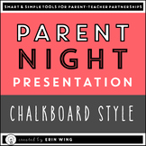 Parent Night Slide Presentation: Chalkboard Style