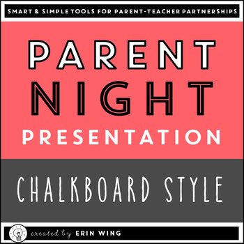 Parent Night Slide Presentation: Chalkboard Style