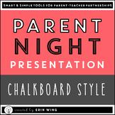 Parent Night PowerPoint Presentation: Chalkboard Style