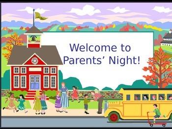 Parent Night (Powerpoint)