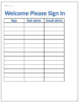 Parent Night Sign In with email and #