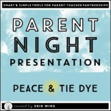 Distance Learning Parent Night Slide Presentation: Peace a