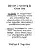 Parent Night Station Instructions