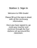 Parent Night Station Instructions