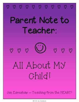 Parent Note Describing Child
