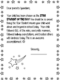 Parent Note-Star Student
