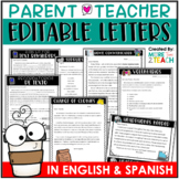 Parent Notes Bundle {EDITABLE} Letters To Parents For The Entire Year