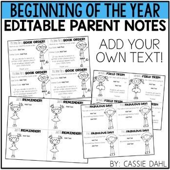 Parent Notes (EDITABLE VERSION)