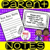 Quick Parent Communication Notes and Forms