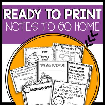 Parent Notes to go Home!