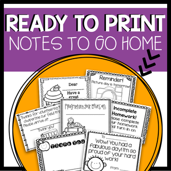 Parent Notes to go Home!