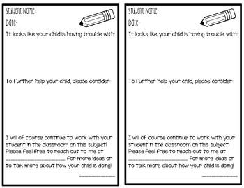 Parent Notification Document