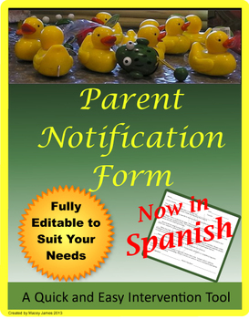 Parent Notification and Contact Sheet- Spanish