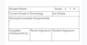 Parent Notification of Grade/Assignments **Editable**