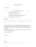 Parent Notification of Student Behavior Letter