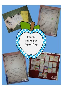 Parent Open Day Freebie Welcome Sign Card and Guess Who