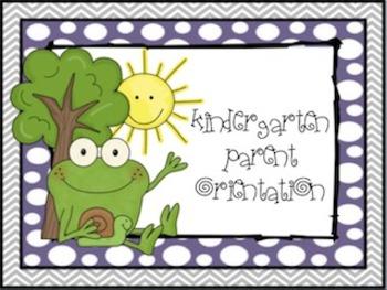Frog Themed Parent Orientation Flipchart for Promethean