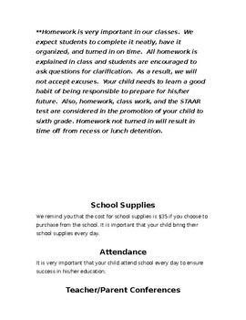 Parent Orientation Packet