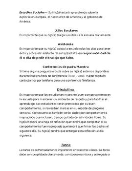 Parent Orientation Packet - Spanish