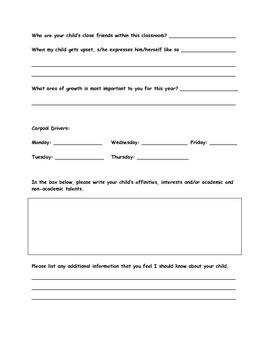 Parent Orientation Survey