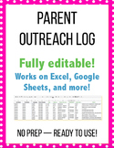 Parent Outreach Log / Parent Contact Form