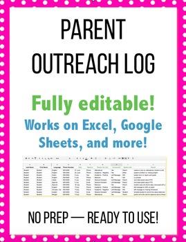 Parent Outreach Log / Parent Contact Form