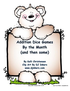 Parent Pack- Addition Dice Games Simple Addition to 12
