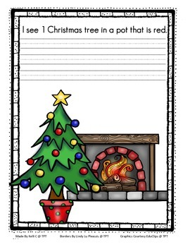Christmas Coloring and Rhyming Book Focusing on Numbers 1-5