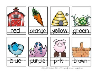 Color Words and Flashcards