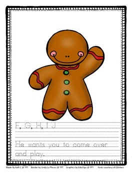 Gingerbread Man Alphabet and Rhyming Book